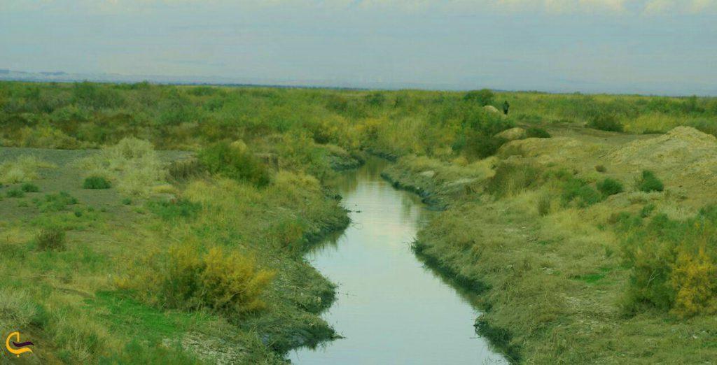 تالاب بند علیخان در شهر ورامین
