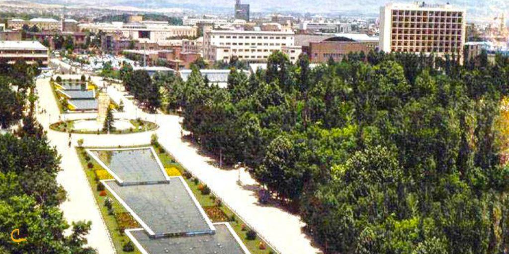 نمایی از پارک شهر تهران در گذشته