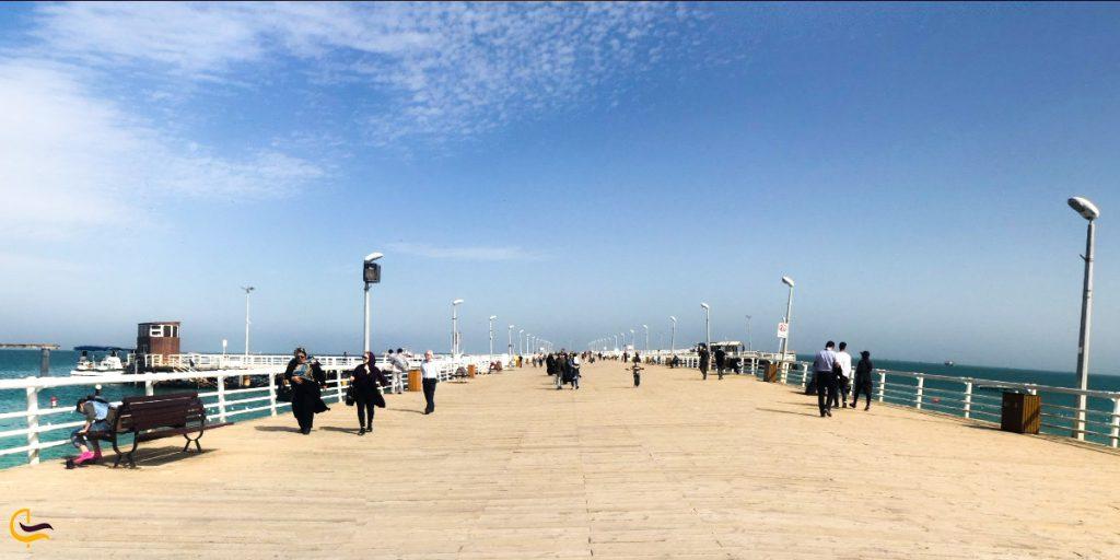 ساحل تفریحی کیش در روز