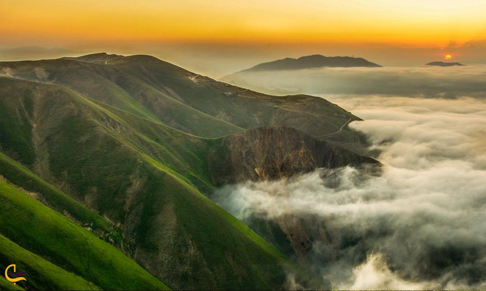 تلفیق ابر و کوه در جنگلهای ارسباران