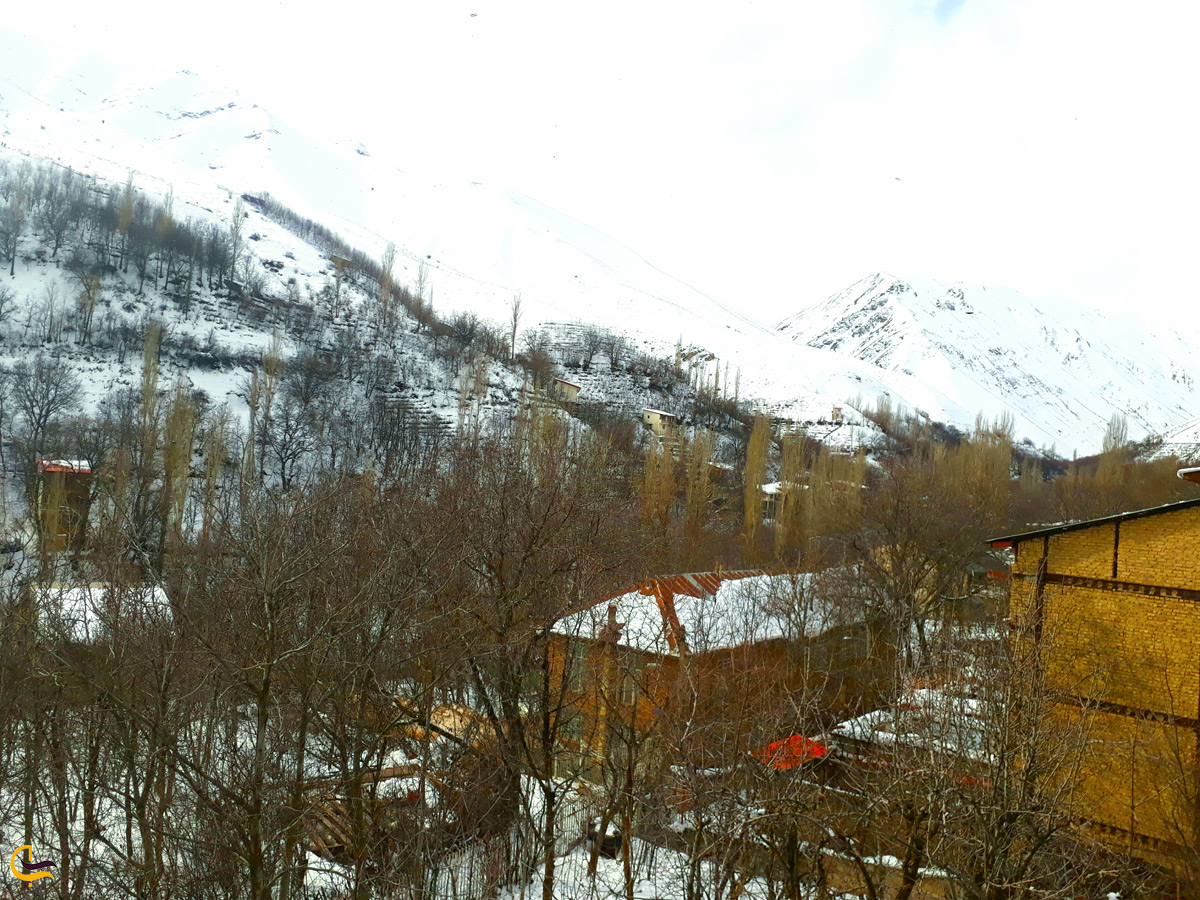 روستای آهار در زمستان