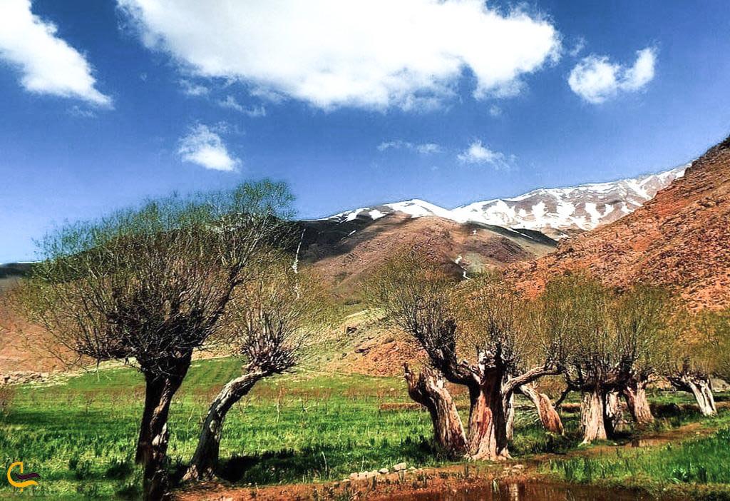 طبیعت پاییزی در روستای افجه در تهران