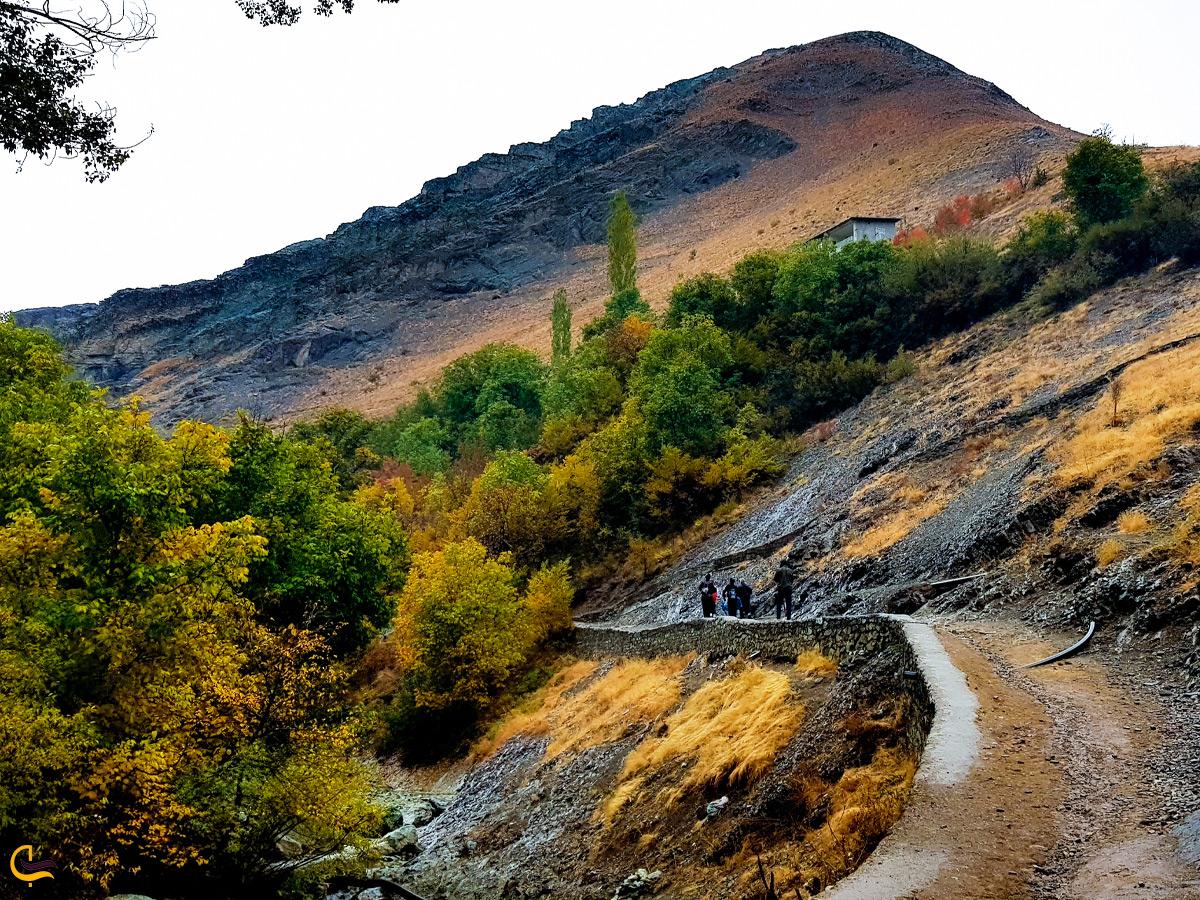 مسیر پیادهروی در روستای آهار