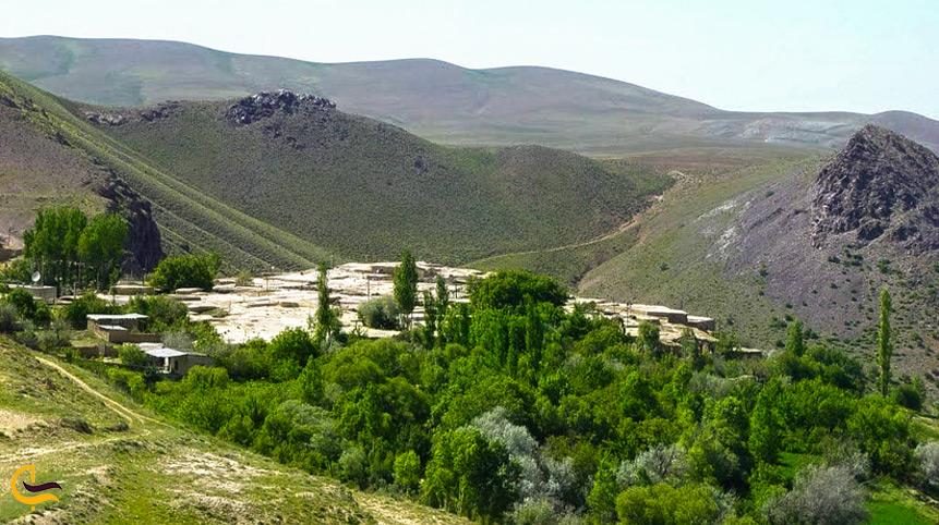 نمایی زیبا از روستای چقانچی