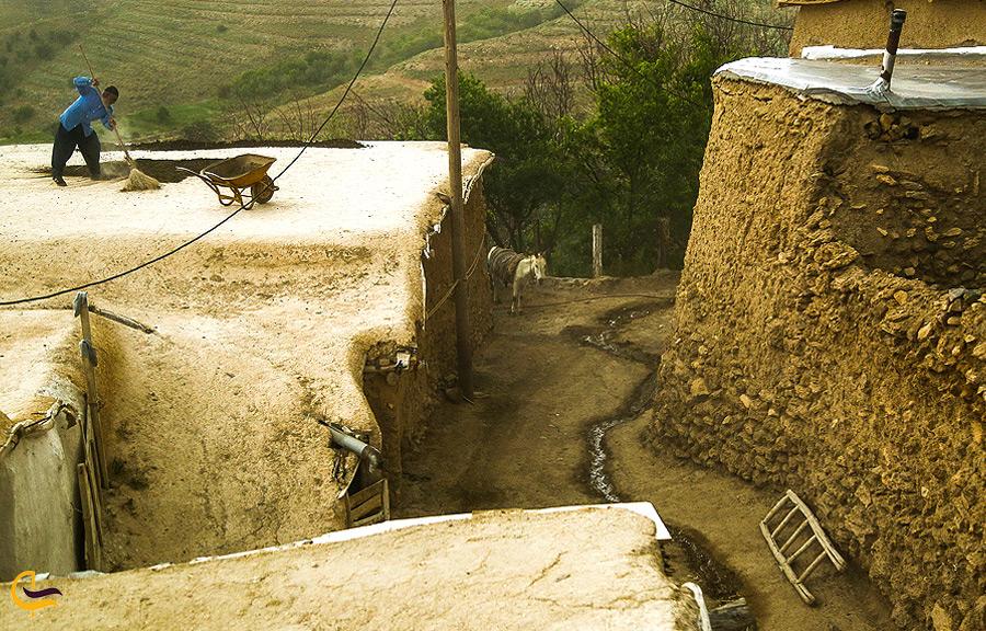 بافت روستایی قدیمی در چناقچی علیا