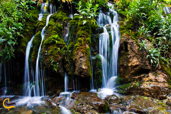 عکس زیبای آبشاره هفت چشمه در روستای ارنگه