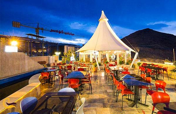 تصویر نمای داخلی کافه رستوران بام کوهسر