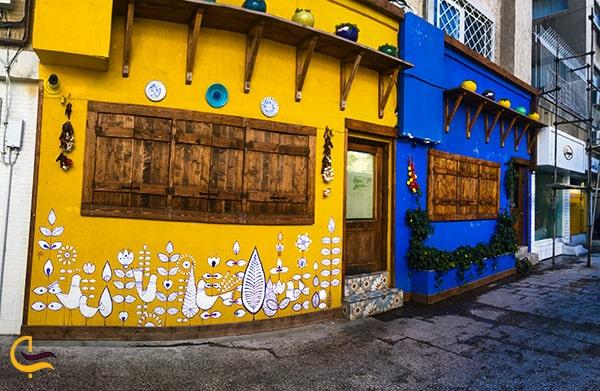 تصویر نمای عجیب و زیبای رستوران ایتالیایی باغ زیتون 2 درمشهد