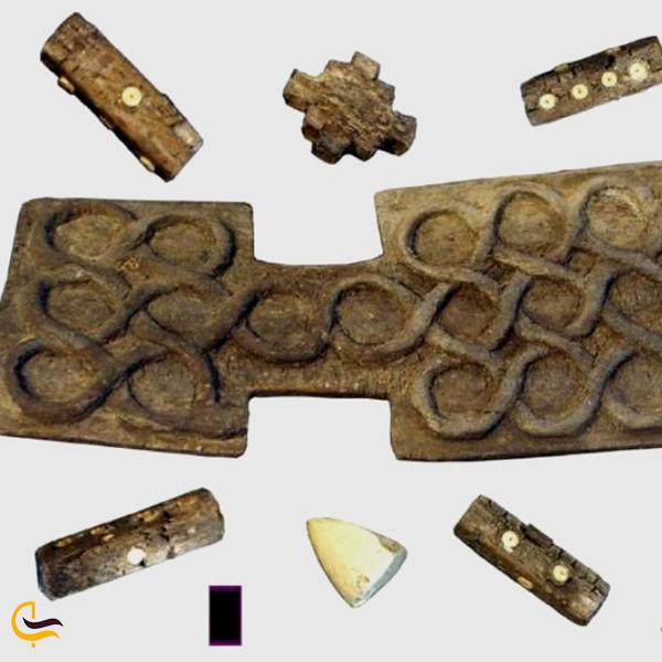 تخته نرد باستانی پیدا شده در شهر سوخته