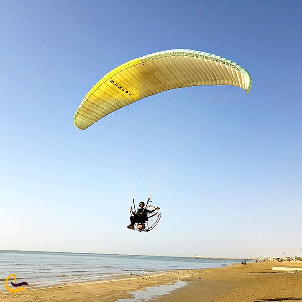 تفریحات ساحلی در بوستان دولت
