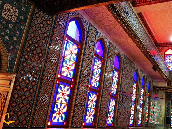 نمای زیبای داخل مسجد ناصری بندرعباس