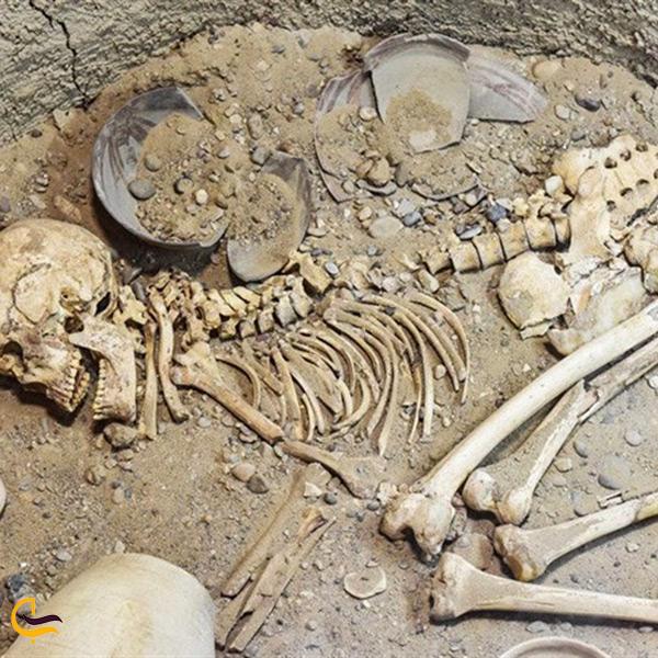اجساد کشف شده در قبرستان شهر سوخته