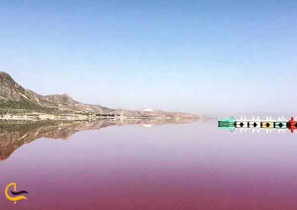 دلیل رنگ صورتی دریاچه لیپارر