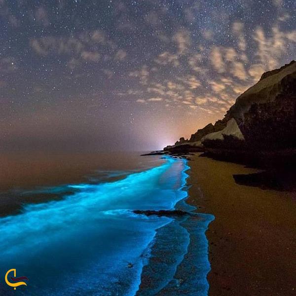 ساحل ستاره باران زیبا و جالب در ایران