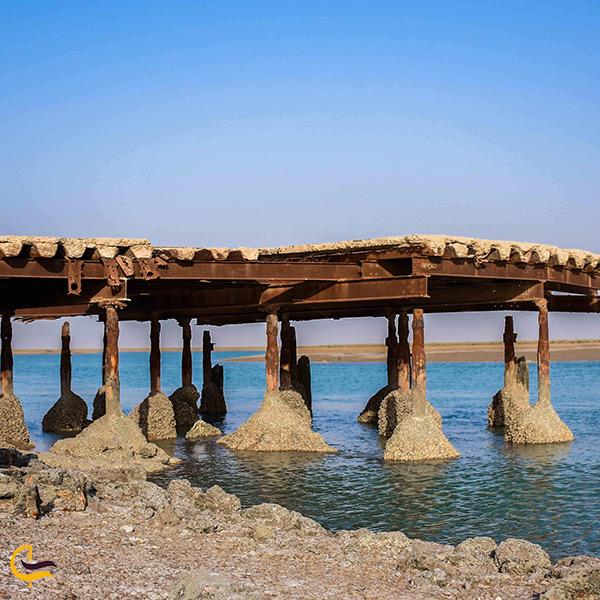 تصویر زیبای اسکله غزال در بندر ماهشهر