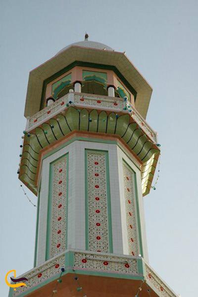 تصویری از تکمناره مسجد جامع تیس