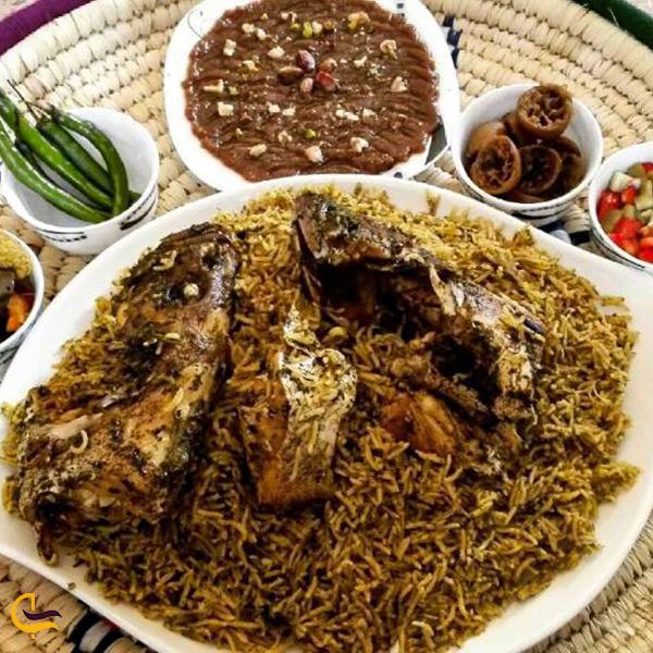 غذای خوشمزه بوشهری دمی لخلاخ
