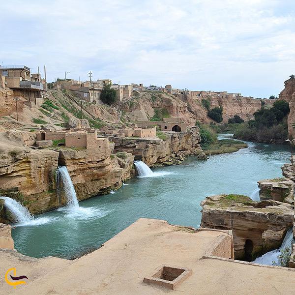 رودخانه گرگر در باغ خان شوشتر