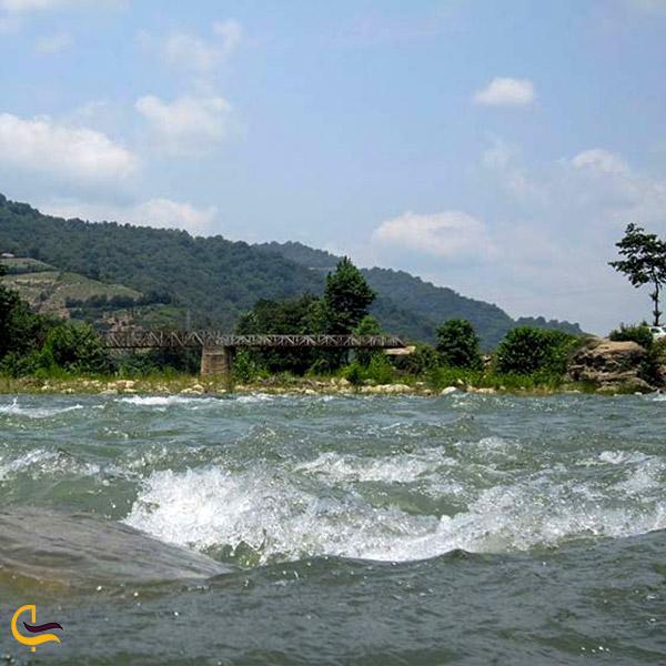 تصویری از طغیان رودخانه تجن