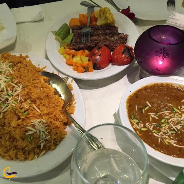 غذاهای هندی در رستوران تاج محل