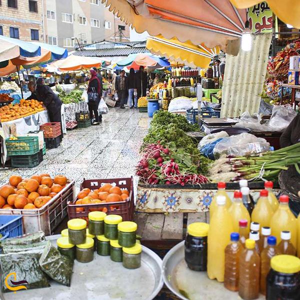 تصویر بازار روزها در شهر زیبای محمودآباد