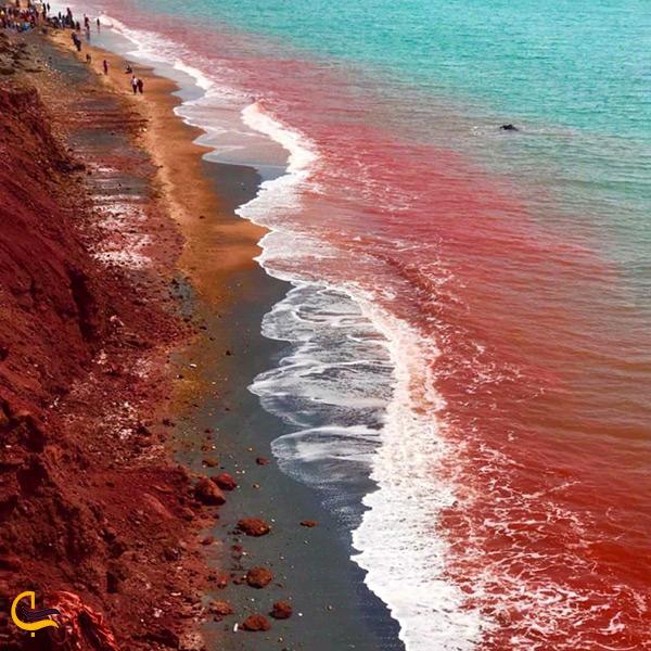 ساحل قرمز جزیره هرمز