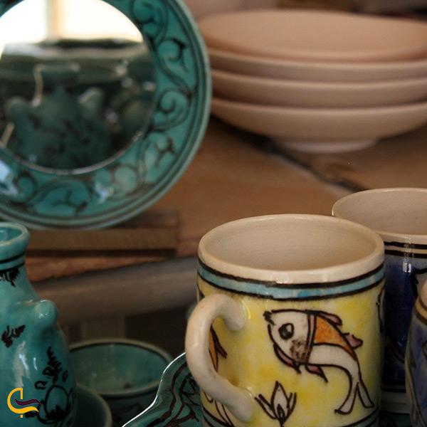 ظرف های سفالی سوغاتی مخصوص شهر رضا
