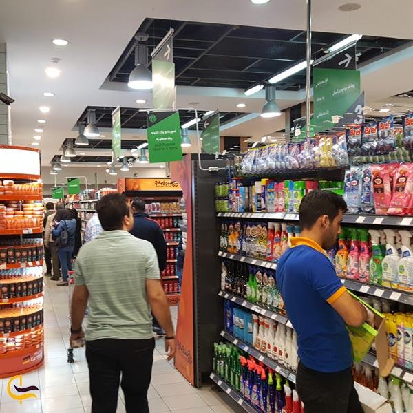 نمایی از سوپر مارکت مرکز خرید پالادیوم تهران