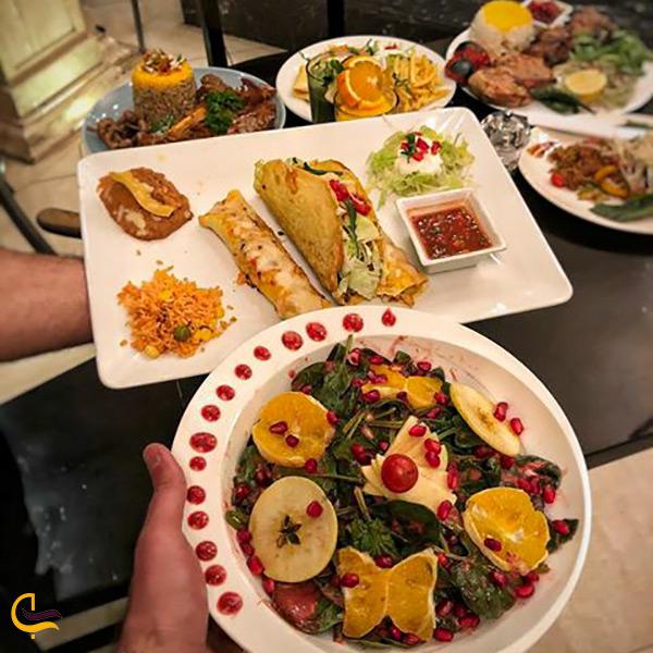 منوی رستوران تماشا تهران
