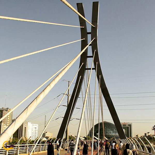 پل طبیعت تهران پل کابلی اما طراحی منحصر به فرد و زیبا