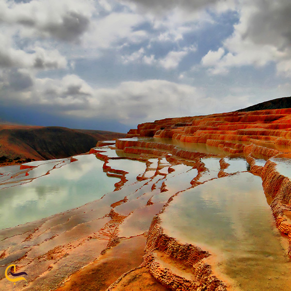 تصویر بسیار زیبا از چشمه باداب سورت دومین چشمه آب شور جهان در ساری