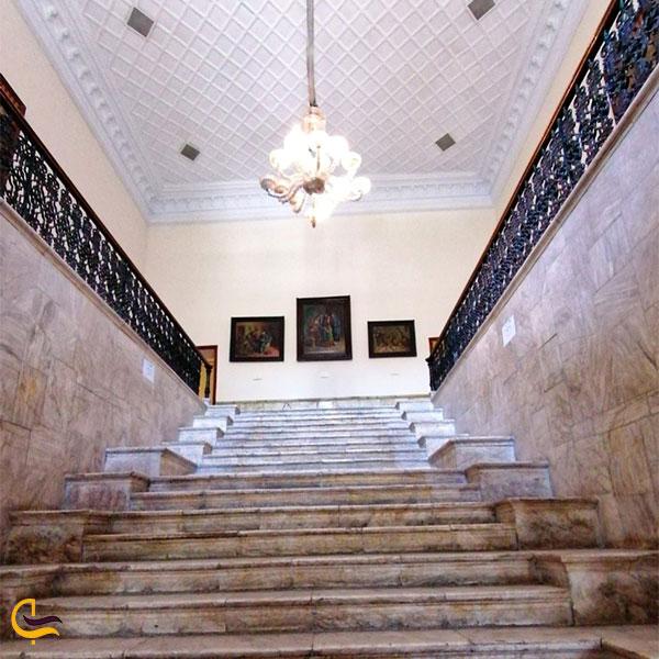 نمایی از ورودی کاخ ابیض