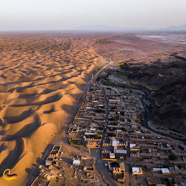 تصویر هوایی از روستای رضا آباد خوار توران