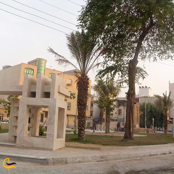 تصویری از دورنمای آرامگاه ژنرال انگلیسی در بوشهر