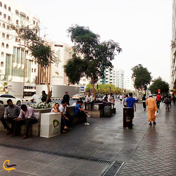 خیابان ایستگاه مترو الرقه دبی