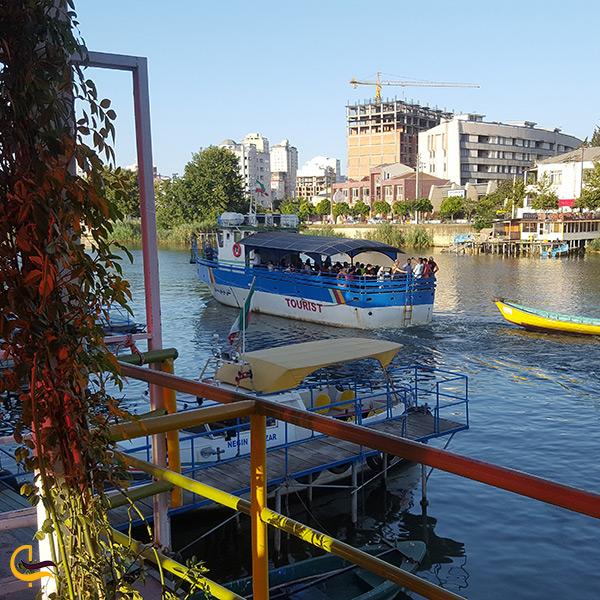 قایق سواری در کشتی صالحین بابلرود