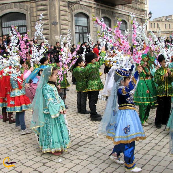 جشن و پایکوبی به مناسبت عید نوروز در آذربایجان
