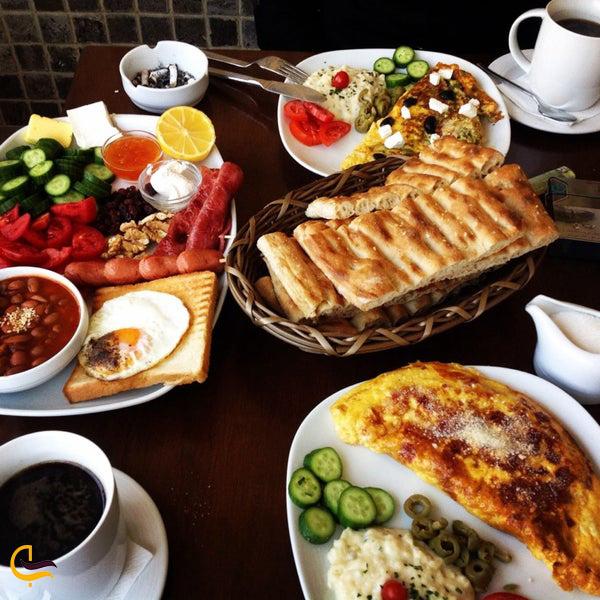 نمایی از غذای کافه رستوران دارچین تهران