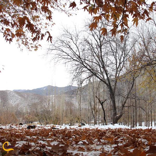 منطقه توریستی دهبکری در فصل زمستان