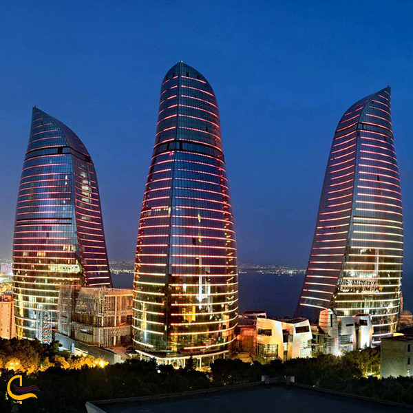 برج های شعله ور باکو