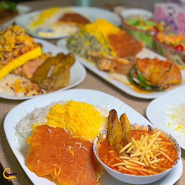 منو رستوران شرف الاسلامی تهران