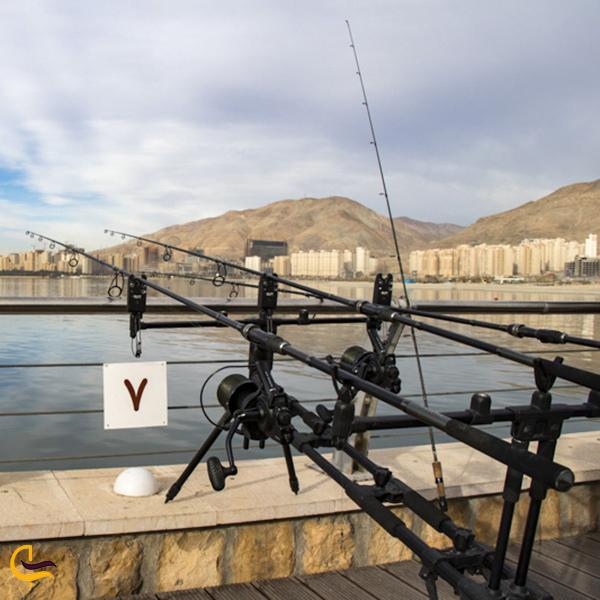 نمایی از ماهیگیری دریاچه چیتگر
