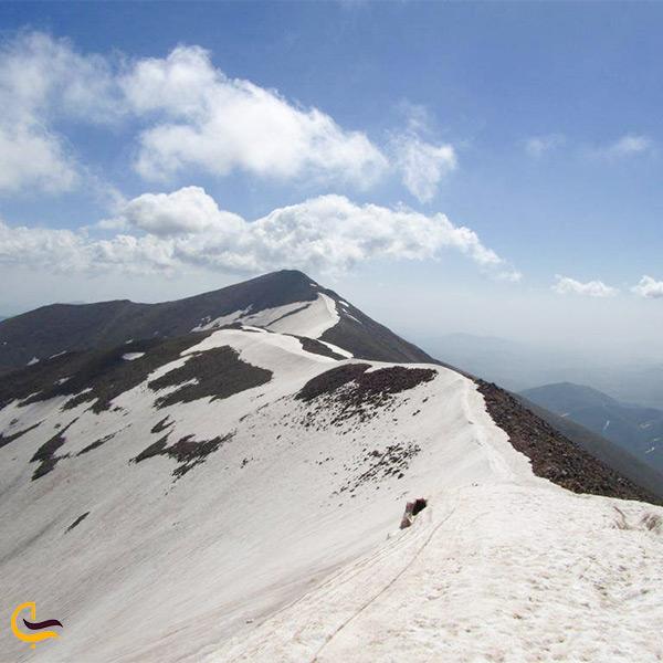 تصویر قله کوه های رشته کوه سهند
