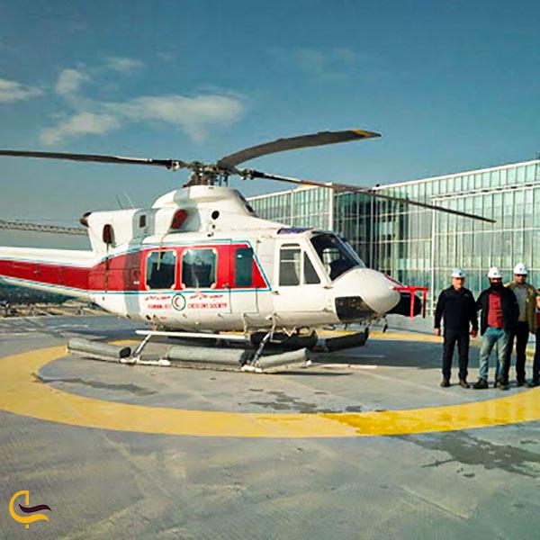 فرود هلی کوچتر در هلیپد ایران مال