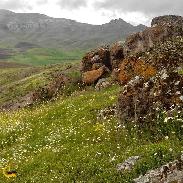 طبیعت کوهپایه های روستای زرگر