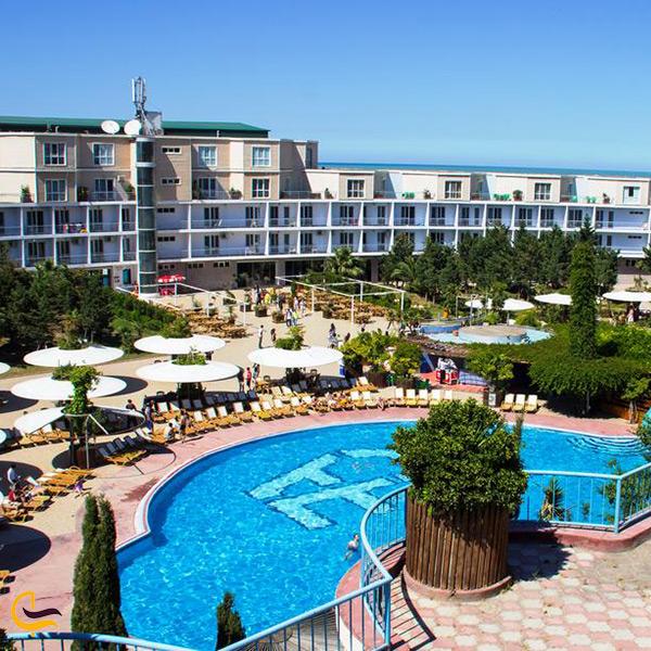 نمای بالا از باشگاه ساحلی ای اف در باکو
