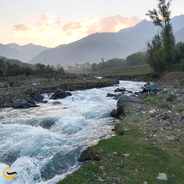 بازدید از چشمه های جوشان روستای الیت