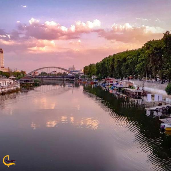 نمایی از آب های رودخانه بابلرود