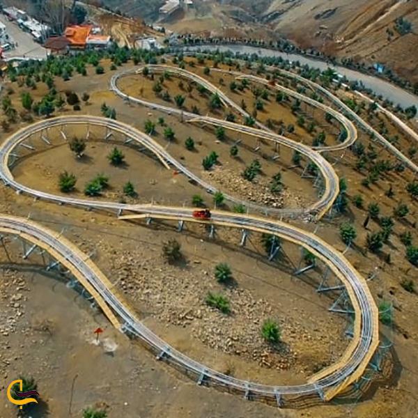 تصویری از مسیر سورتمه توچال تهران