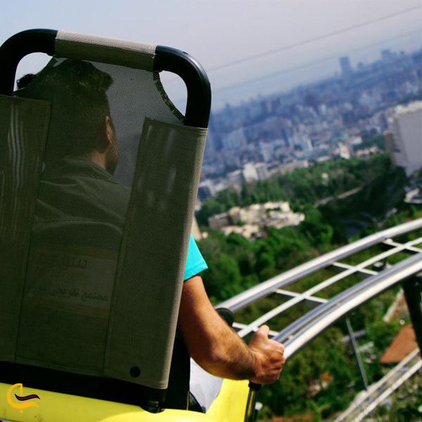 نمایی از سورتمه دربند تهران